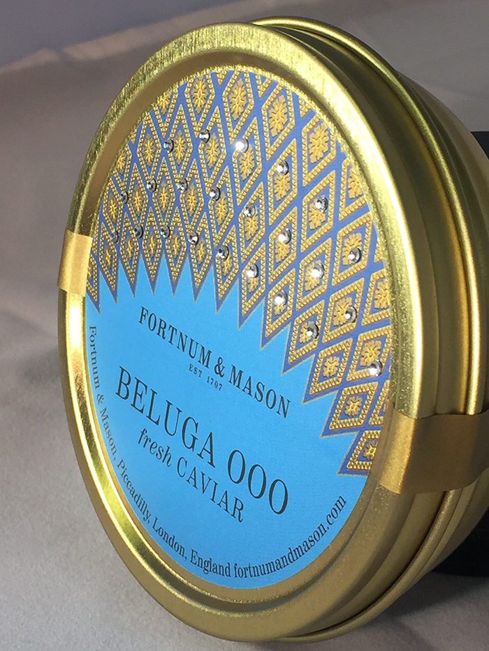 Judges Award Source Labels UK for Fortnum & Mason Beluga fresh caviar