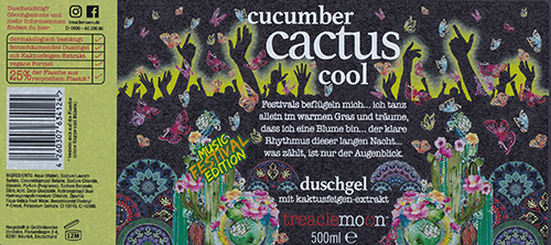 E2 Inkjet Technology - Royston Labels UK for Treacle Moon Cucumber Cactus shower gel