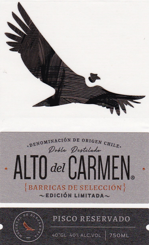 A2 Alcoholic Drinks - MCC Chile for Alto del Carmen Barricas de Selección